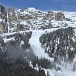 View of Sassongher, Alta Badia - Dolomites — Stock Photo