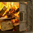 A wood fire for the chimney — Stock Photo