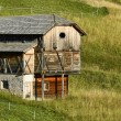 The barn on a slope — Stock Photo