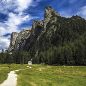 Vallunga, dolomites - İtalya — Stok fotoğraf
