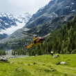 Stock Photo: Alpine helicopter rescue