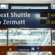 Stock Photo: Station shuttle Zermatt