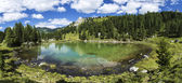 Lagusel Lake, Dolomiti - Italy — Stock Photo