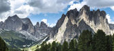 Dolomiti Vajolet Valley panorama — Stock Photo