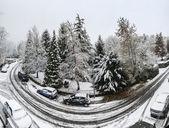 Winter time, Varese - Italy — Stock Photo