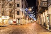 Varese, Corso Matteotti night photography — Stock Photo