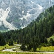 Stock Photo: Forest and river in valley, Dolomiti - Italy