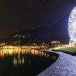 Ferris wheel in Laveno-Mombello, Maggiore Lake - Lombardy — Stock Photo #44524909