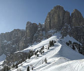 Sella Group, view from Gardena Pass - Dolomiti — Stok fotoğraf