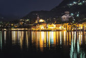 Laveno-Mombello, city lights  — Stock Photo