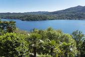 Orta lake, landscape in warm season — ストック写真