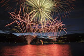 Fireworks on the Maggiore Lake, Luino — Stock Photo
