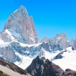Mt Fitz Roy summit in Los Glaciares National Park, Patagonia, Argentina - Stock Photo