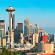 Seattle skyline panorama at sunset as seen from Kerry Park — Stock Photo