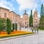 City center of Salamanca, Castilla y Leon region, Spain — Stock Photo
