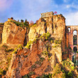 Panoramic view of the city of Ronda in Andalusia, Spain — Stock Photo