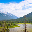 Beautiful landscape with Rocky Mountains in Jasper National Park, Alberta, Canada — Stock Photo