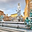 Famous Fountain of Neptune on Piazza della Signoria in Florence, Italy — Stock Photo #24224495