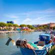 Fisherman boat in the city centre of Grado, Italy — Stock Photo