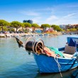 Fisherman boat in the city centre of Grado, Italy - Stock Photo