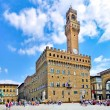 Panoramic view of famous Piazza della Signoria with Palazzo Vecchio in Florence, Tuscany, Italy — Stock Photo #24225001