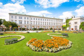 Schloss Mirabell with Mirabellgarten in Salzburg, Austria — Stock Photo