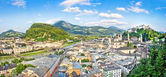 Panoramic view of the city of Salzburg, Austria — Stock Photo