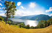 Panoramic view of Zell am See, Austria — Stock Photo