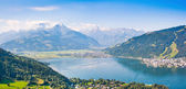 Beautiful view of Zell am See with Zeller Lake in Salzburger Land, Austria — Foto Stock