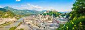 Panoramic view of the city of Salzburg, Austria — Stock Photo