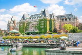 Beautiful view of Inner Harbour of Victoria, BC, Canada — Stock Photo