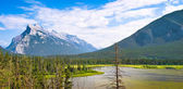 Prachtige landschap met rocky mountains in jasper nationaal park, alberta, canada. — Stockfoto