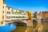 Ponte Vecchio with river Arno at sunset in Florence, Italy — Zdjęcie stockowe