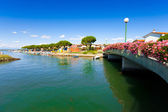 Beautiful summer scene as seen in the city centre of Grado, Italy — Stock Photo