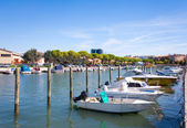 Boats in the city centre of Grado, Italy — Stock Photo