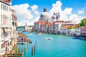 Canal Grande and Basilica di Santa Maria della Salute, Venice, Italy — Zdjęcie stockowe