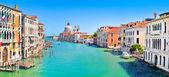 Canal grande y basilica di santa maria della salute, venecia, italia — Foto de Stock
