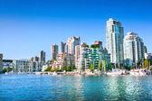Vancouver downtown skyline at False Creek, British Columbia, Canada — Stock Photo