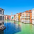 Scenic view of Canal Grande in Venice, Italy as seen from Rialto bridge — Stock Photo