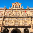 Town hall at Plaza Mayor in Salamanca, Castilla y Leon, Spain — Stock Photo