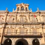 Town hall at Plaza Mayor in Salamanca, Castilla y Leon, Spain — Stock Photo