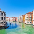 Scenic view of Canal Grande in Venice, Italy as seen from Rialto bridge — Stock Photo #26385795