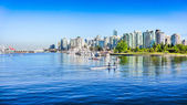 Vancouver skyline with harbor, British Columbia, Canada — Stock Photo