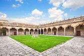 Courtyard of famous University of Salamanca, Castilla y Leon region, Spain — Stock Photo