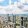 Panoramic view of Frankfurt am Main, Germany — Stock Photo