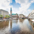 Beautiful view of the city center of Hamburg, Germany — Stock Photo