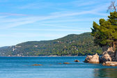 Beautiful coastal landscape with Adriatic Sea near Trieste in Friuli-Venezia Giulia, Italy — Stock Photo