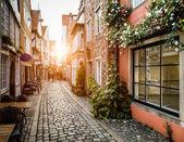 Historic Schnoorviertel at sunset in Bremen, Germany — Stock Photo