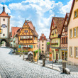 Stock Photo: Medieval town of Rothenburg ob der Tauber, Franconia, Bavaria, Germany