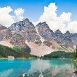 Beautiful landscape with Rocky Mountains and famous Moraine Lake in Banff National Park, Alberta, Canada — Stock Photo #38809843